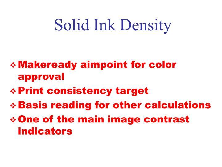 Solid Ink Density
