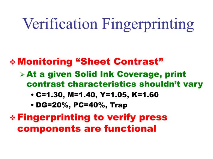 Verification Fingerprinting