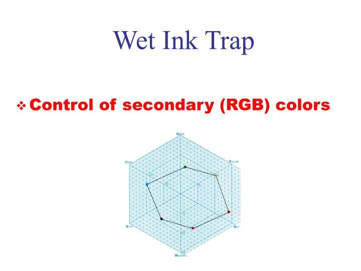 Wet Ink Trap