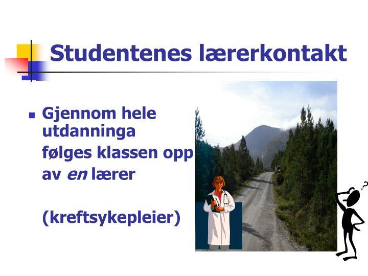 Studentenes lærerkontakt