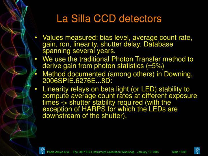 La Silla CCD detectors