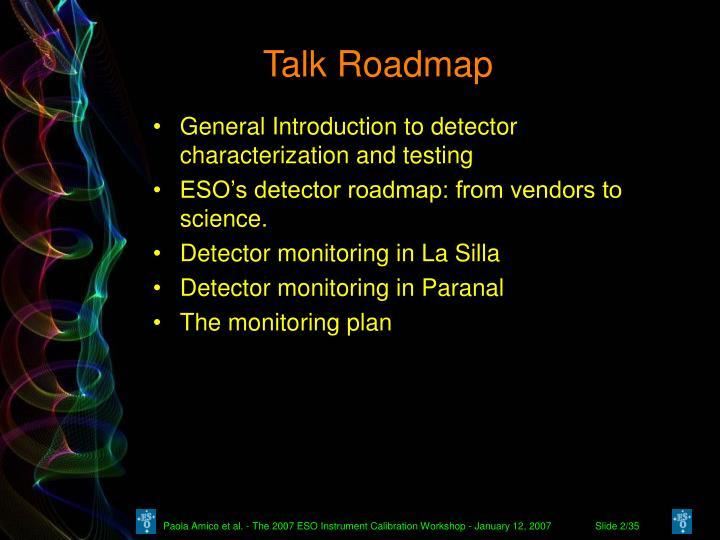 Talk Roadmap