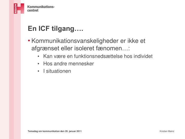 En ICF tilgang….