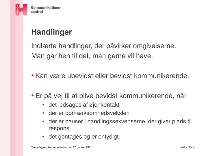 Handlinger