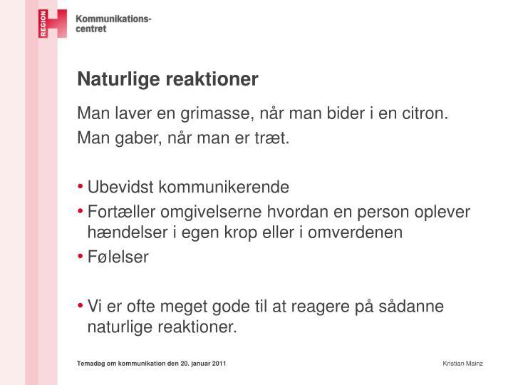 Naturlige reaktioner