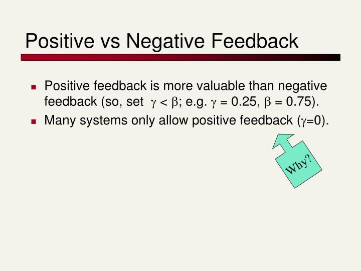 Positive vs Negative Feedback