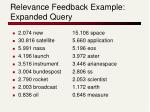 relevance feedback example expanded query