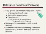 relevance feedback problems1