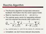 rocchio algorithm