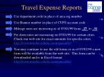 travel expense reports