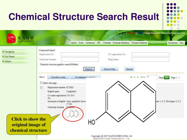 Chemical Structure Search Result