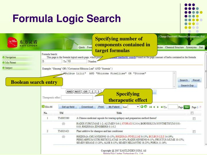 Formula Logic Search