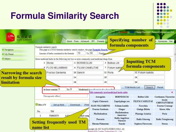 Formula Similarity Search