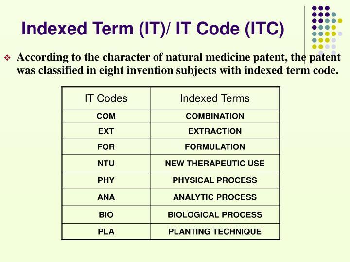 Indexed Term