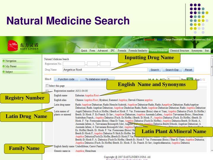 Natural Medicine Search