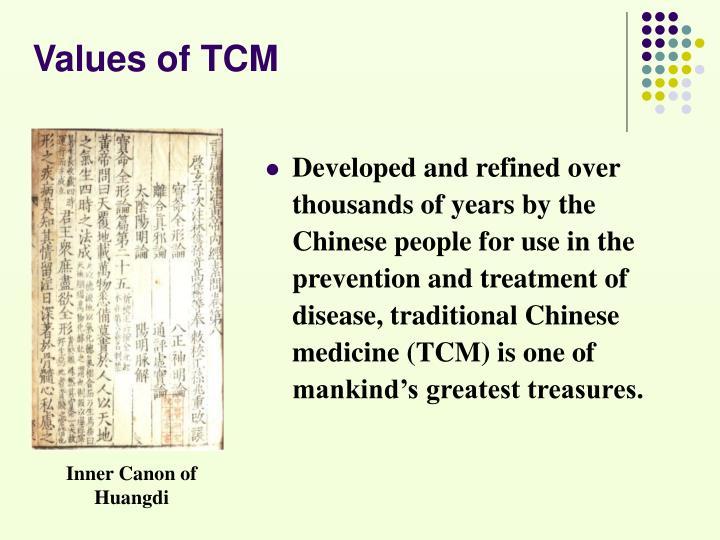Values of TCM