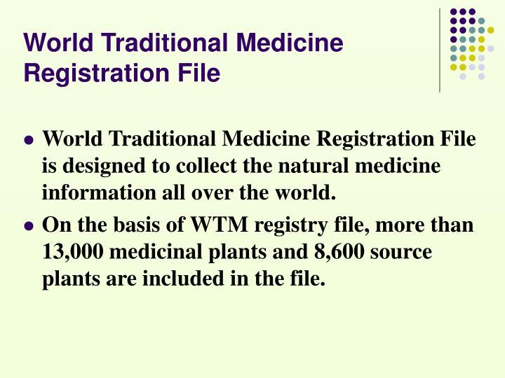 World Traditional Medicine