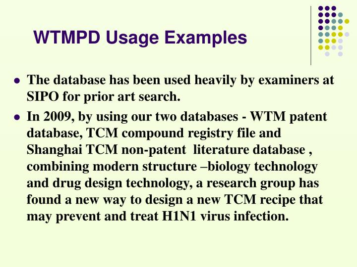 WTMPD Usage Examples