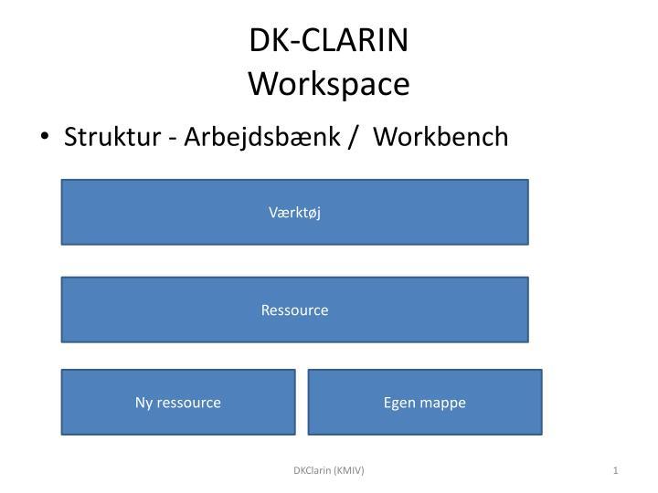 dk clarin workspace