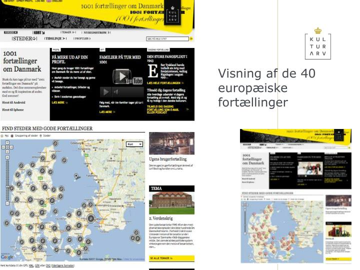 Visning af de 40 europæiske fortællinger