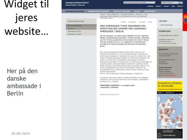 Widget til jeres website…
