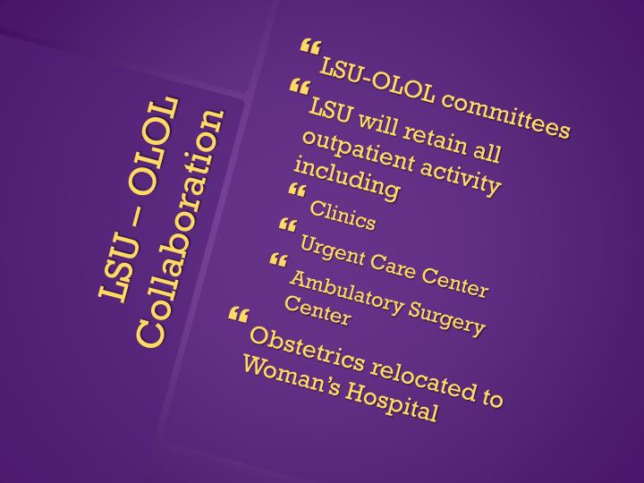 LSU-OLOL committees