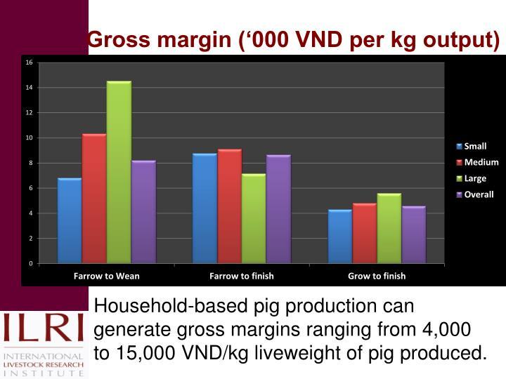 Gross margin ('000 VND per kg output)