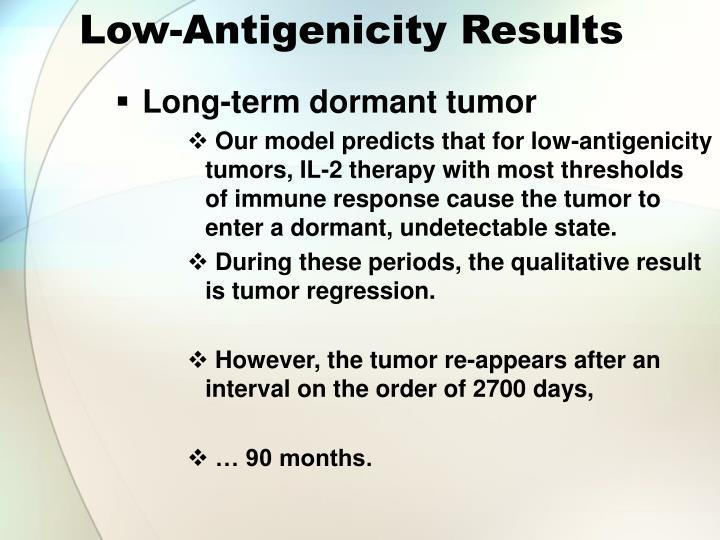 Low-Antigenicity Results