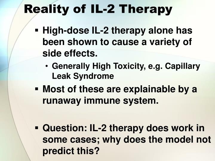 Reality of IL-2 Therapy