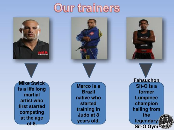 Our trainers
