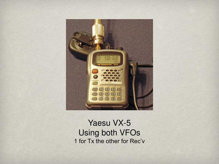 Yaesu VX-5