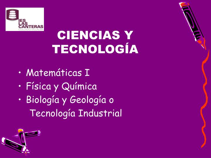 CIENCIAS Y TECNOLOGÍA