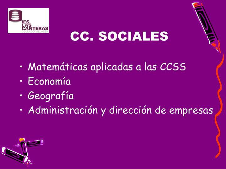 CC. SOCIALES