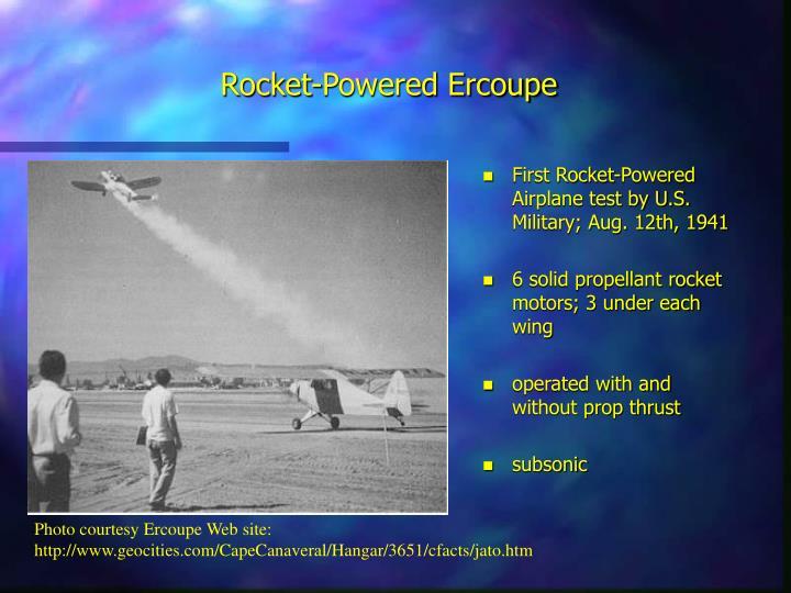Rocket-Powered Ercoupe