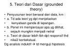 5 teori dari dasar grounded theory