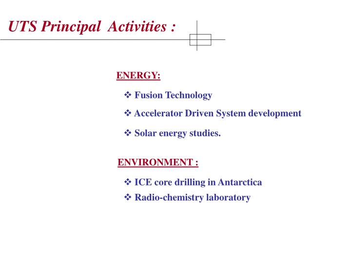 UTS Principal  Activities