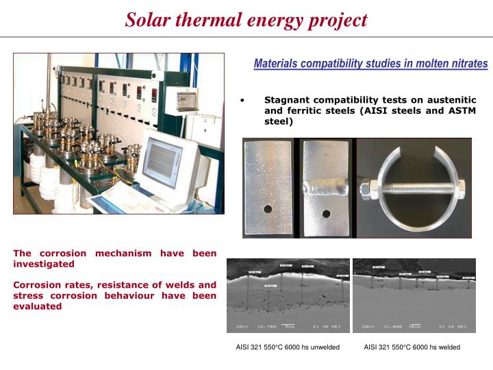 Solar thermal energy project