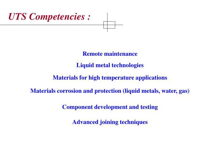 UTS Competencies