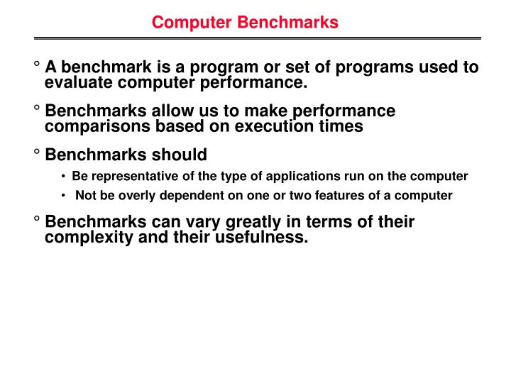 Computer Benchmarks