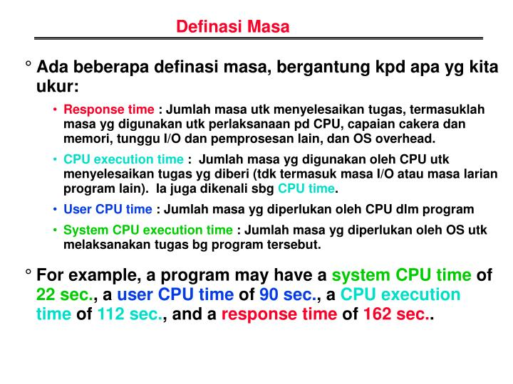 Definasi Masa