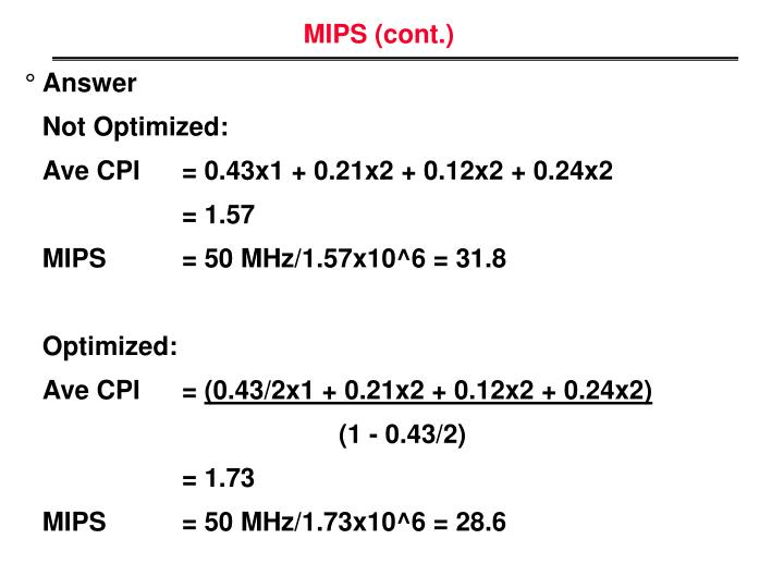 MIPS (cont.)