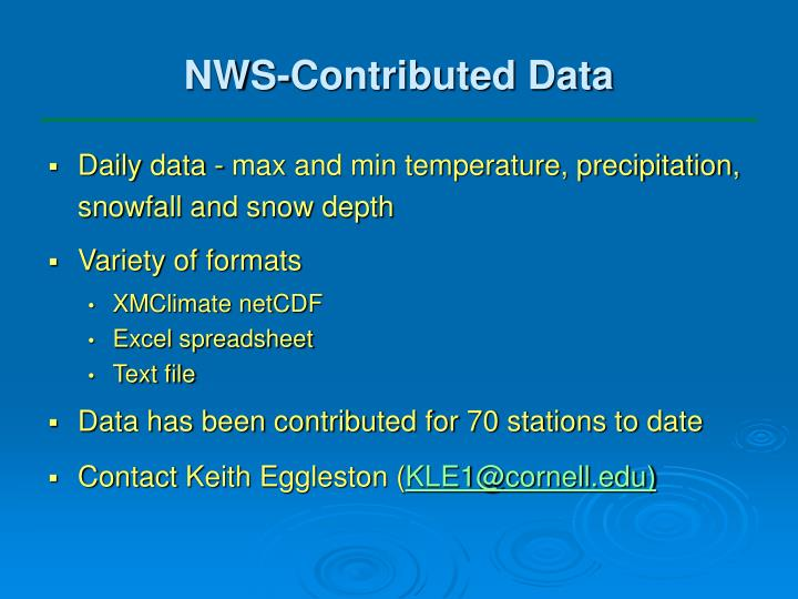 NWS-Contributed Data