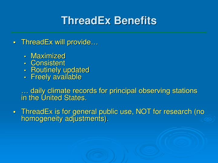 ThreadEx Benefits