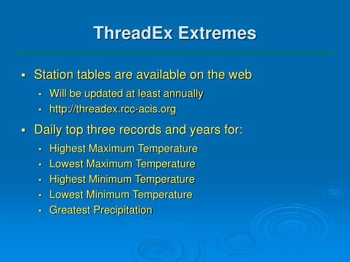 ThreadEx Extremes
