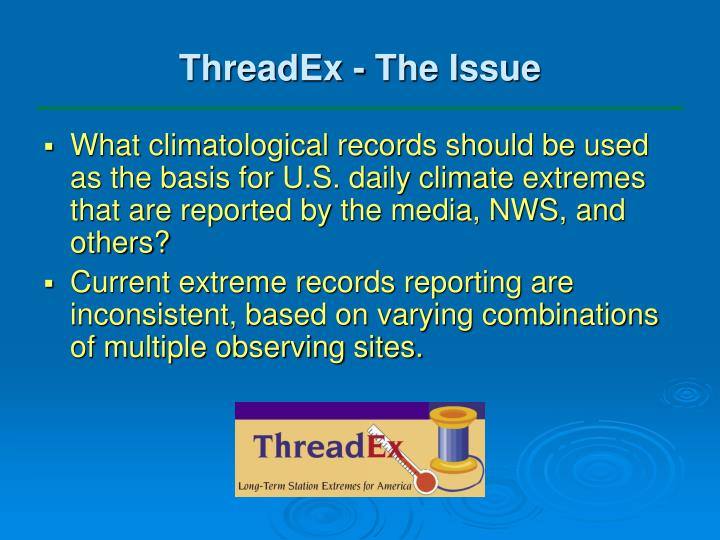 ThreadEx - The Issue