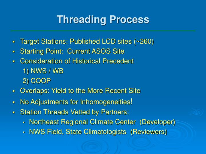 Threading Process