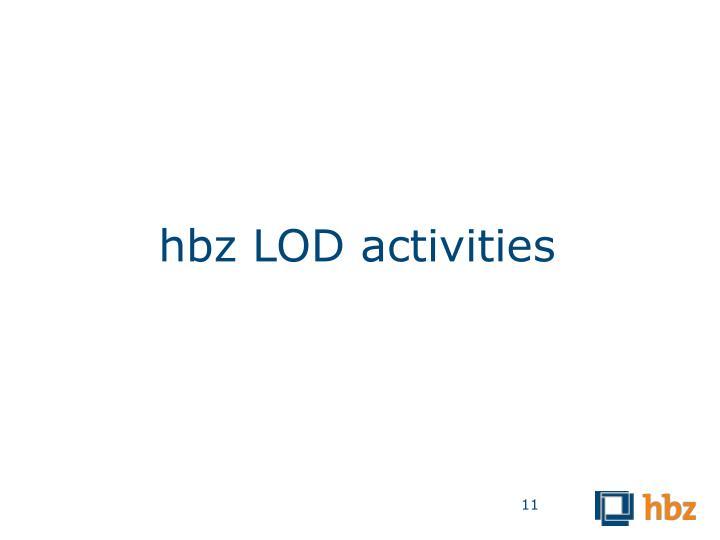 hbz LOD activities