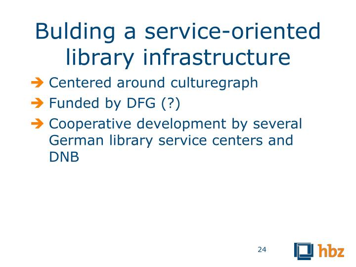 Bulding a service-oriented library infrastructure