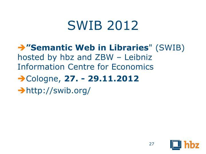SWIB 2012
