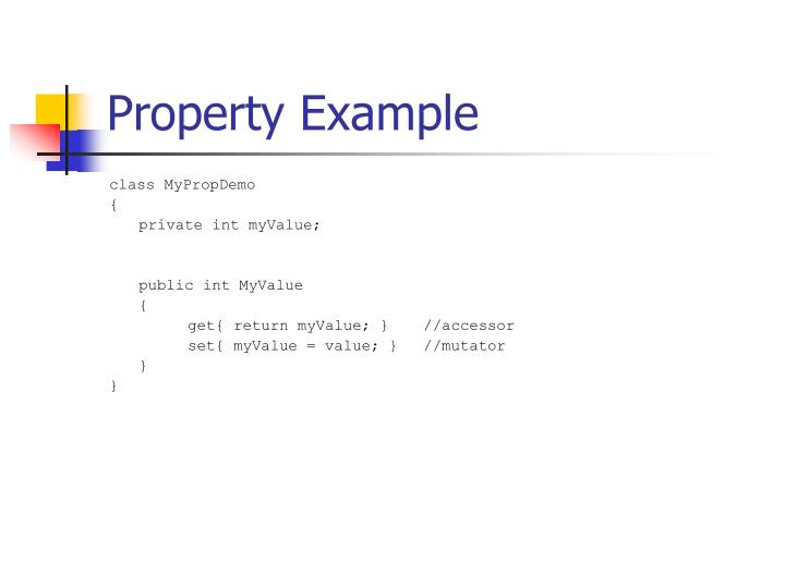 Property Example